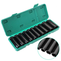 10PCS/Set 8 24Mm 1/2 inch Drive Deep Impact Socket Set Heavy Metric Garage Sleeve Tools For Wrench Adapter Hand Car Repair Tool