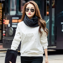2019 Women Hoodies Autumn Winter Clothing Korean Embroidery Letter Round Neck Ariana Grande Ladies Sweatshirt Sudadera Mujer