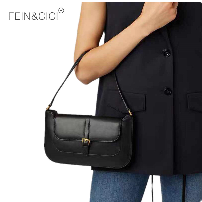 Baguette bag green white black shoulder leather hobo handbag women retro vintage small party clutch 2019 summer new