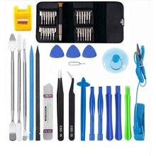 45 en 1 Kit doutils de réparation de téléphone portable Multi ouverture démontage ensemble doutils de réparation pour iphone pour Samsung xiaomi outils à main pour tampon