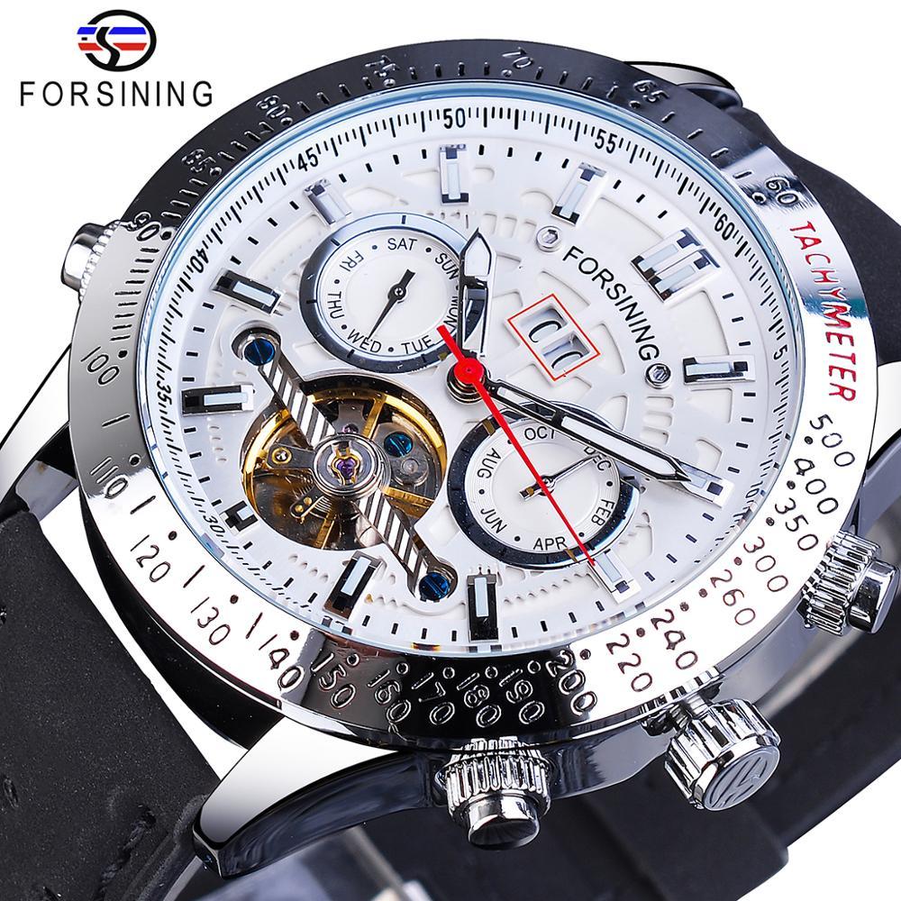 Forsining Numberal Sport Bezel Calendar Display Tourbillion Design Men Military Automatic Wristwatch Mechanical Top Brand Luxury