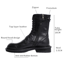 купить 2019 New style Fashion Sexy Mid calf  boots zip flat Boots women Lady Women Boots Genuine leather Boots дешево