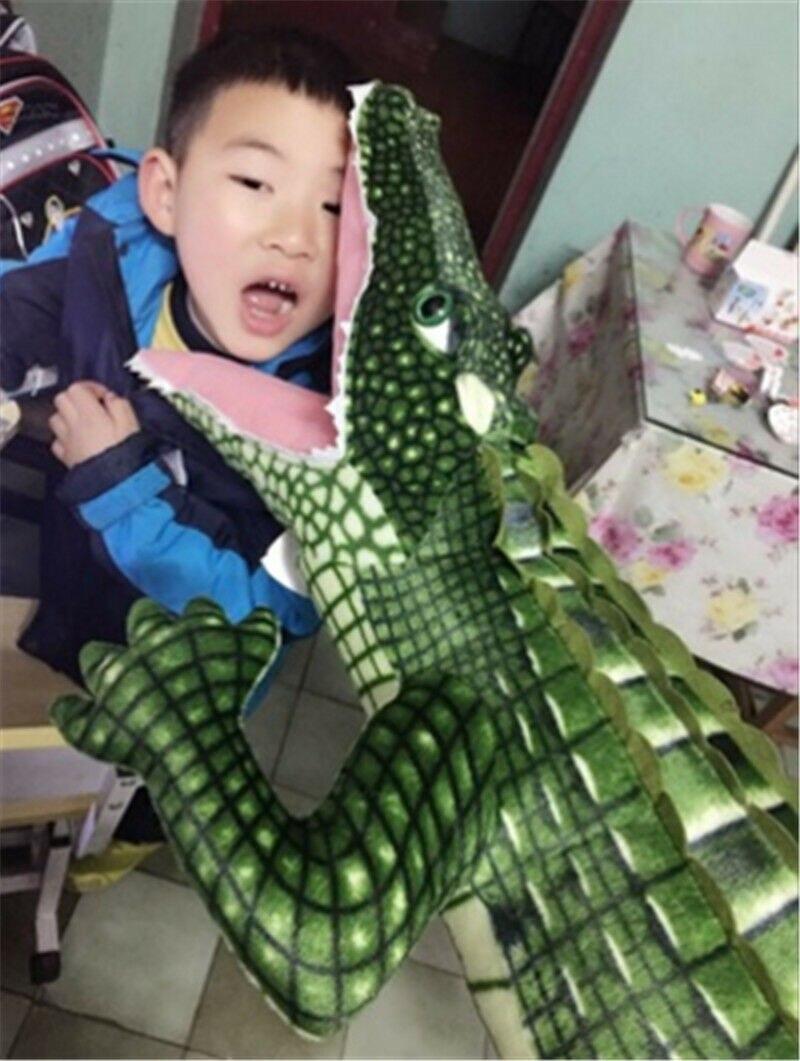 Géant grand Crocodile en peluche jouets en peluche relike Alligator animaux en peluche poupée cadeau mignon en peluche