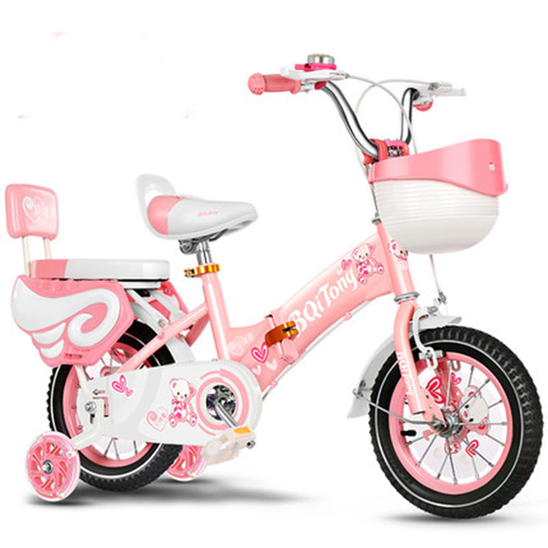 Children's Foldable Bicycle 2-9 Years Girl Multi-Color Multiple Size Flash Auxiliary Wheel More Colorful