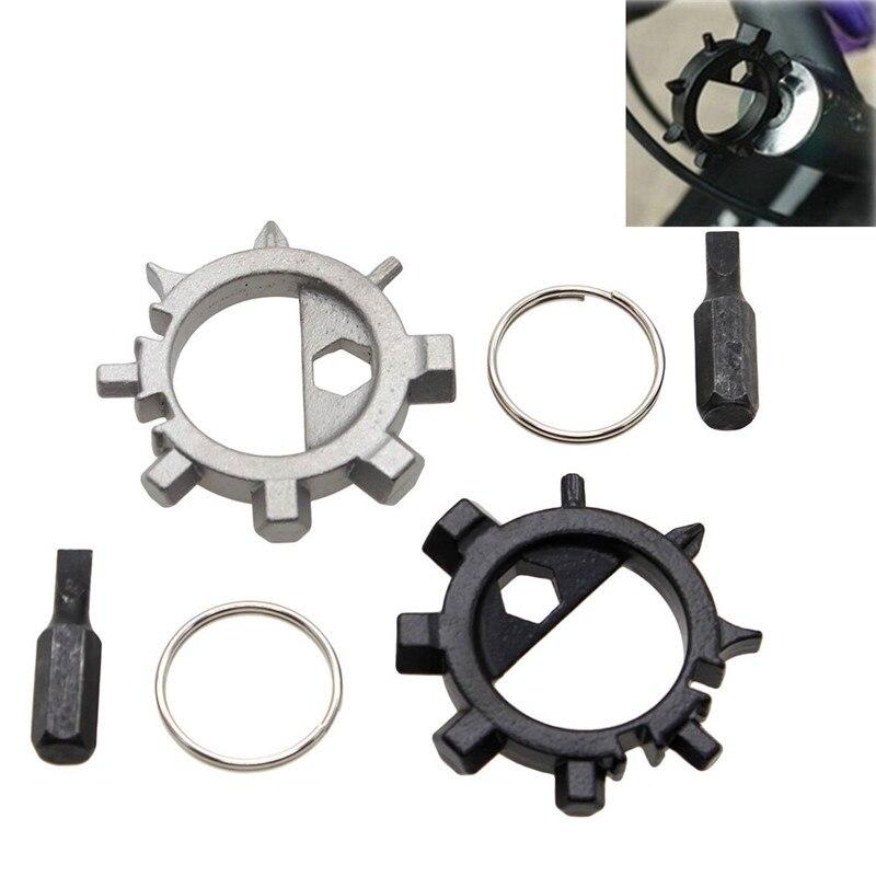 EDC Stainless multi tool bike Repair accessories MTB Multitool Screwdriver Keychain Freezing Rain Bike Wish Bicycle repair tool(China)