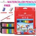 FABER CASTELL 12/24/36/48 สีน้ำดินสอสีสำหรับโรงเรียน Office เด็กวาดสีน้ำดินสออุปกรณ์