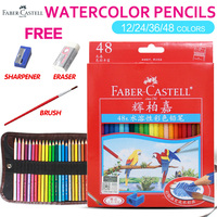 Faber Castell 12/24/36/48Color Water Color Pencils Set for Office School Kids Drawing Watercolor Pencil Supplies|  -