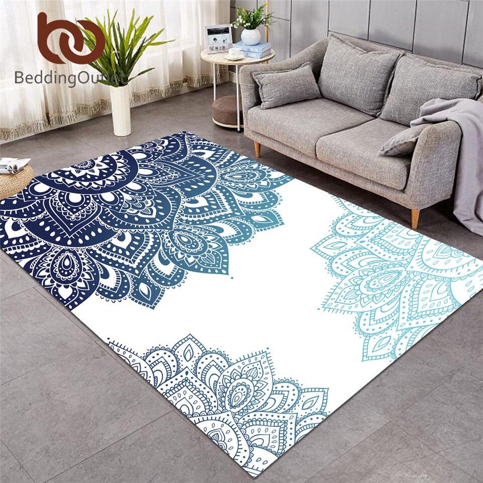 Beddingoutlet Mandala Carpets For Living Room Bohemian Rectangle Area Rug Ethnic Flower Floor Mat Floral Kaleidoscope Alfombra Carpet Aliexpress
