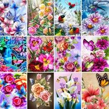 Полный дрель квадрат Алмаз живопись 5Д бабочка новое поступление Алмаз вышивка искусство цветы украшение дома