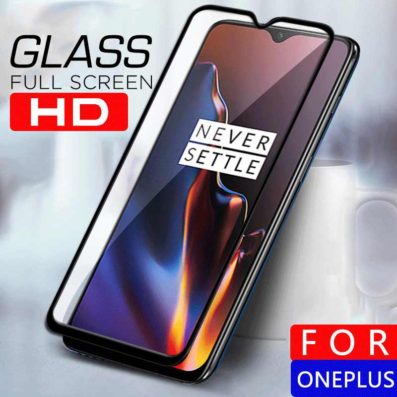 Tempered Glass For Oneplus 7 7T 6T 6 5T 7t 3 3T Front Full Cover Screen Protective Glass For Oneplus 7T 1+7 Glass