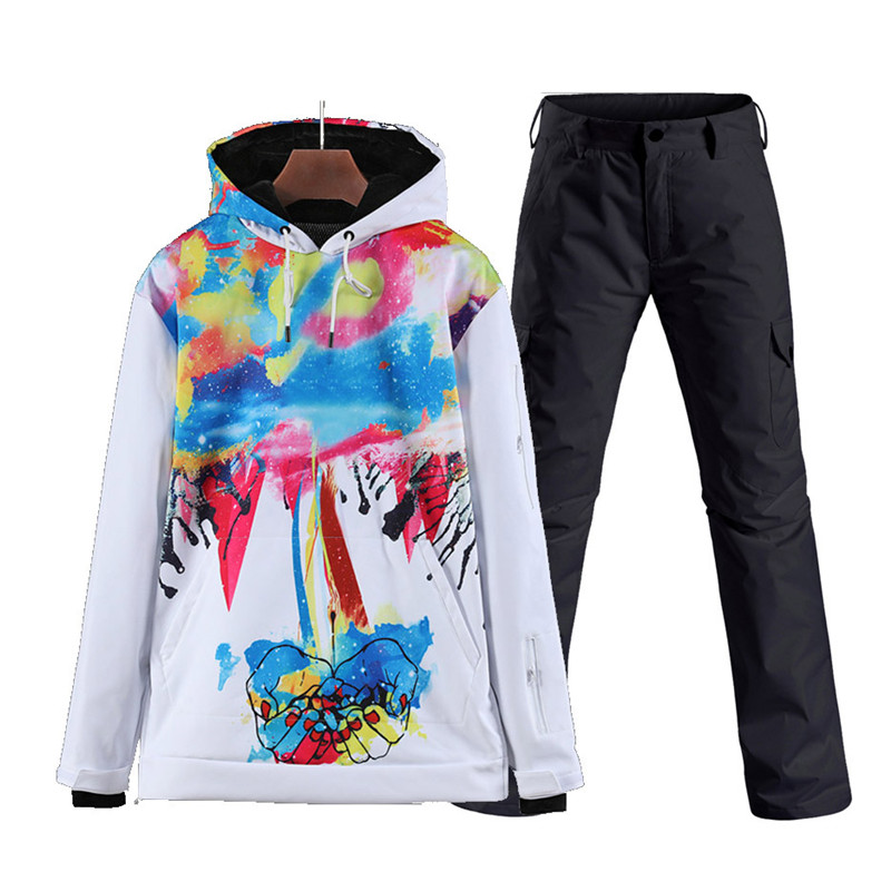 Pullover Men's And Women's Snow Suit Wear Outdoor Sports Snowboarding Sets Waterproof Windproof Skateboard Ski Jacket Snow Pant