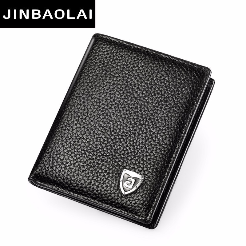 Small Wallet Men Genuine Leather Purses Cowhide Mini Wallets Black And Brown Quality Guarantee Short Bifold Wallets Card Holder