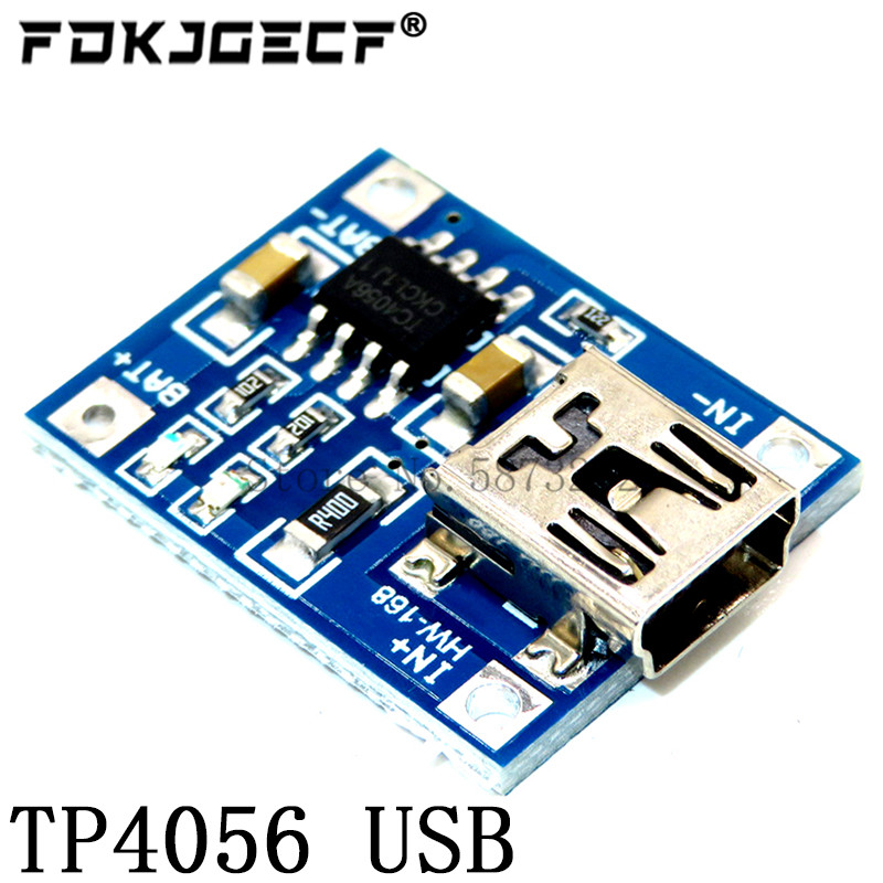 TP4056 With Protection Dual Functions 5V 1A Mini Micro TYPE-C USB 18650 Lithium Battery Charging Board Charger Module 1A Li-ion 3