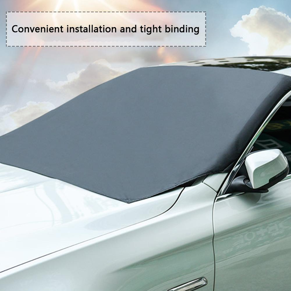 Automobile Magnetic Sunshade Cover Car Windshield Snow Sun Shade Waterproof Protector Cover Car Front Windscreen Cover 210*120cm