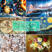 Puzzles 1000 Pieces 50*70 cm Jigsaw Puzzles Educational Toys Scenery Space Stars Educational Puzzle Toy for Kids birthday Gift space puzzles