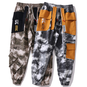 Image 4 - Hip Hop kamuflajlı kargo pantolon Streetwear erkekler Harajuku taktik pantolon çok cep 2019 dökümlü pantolon HipHop Harem pantolon rahat