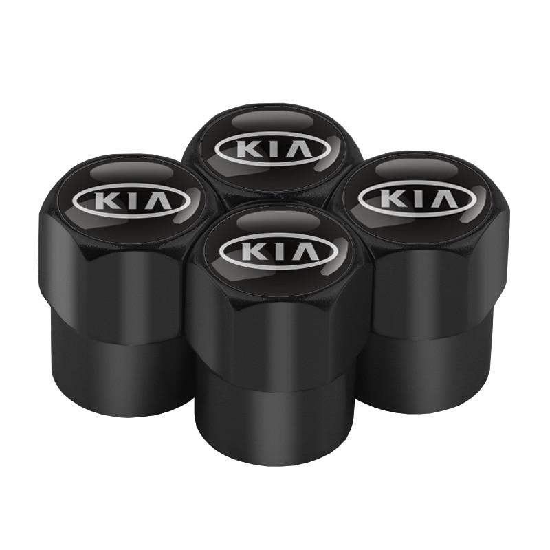 4PCS Car Wheel Tire Valve Caps Aluminum Air Valve Caps for Kia Sportage Rio Sorento Soul Picanto Optima Ceed Forte Cadenza K K5
