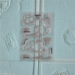 FXL Frosch Yoga Transparent Klar Silikon Stempel/Dichtung für DIY scrapbooking/foto album Dekorative klare stempel