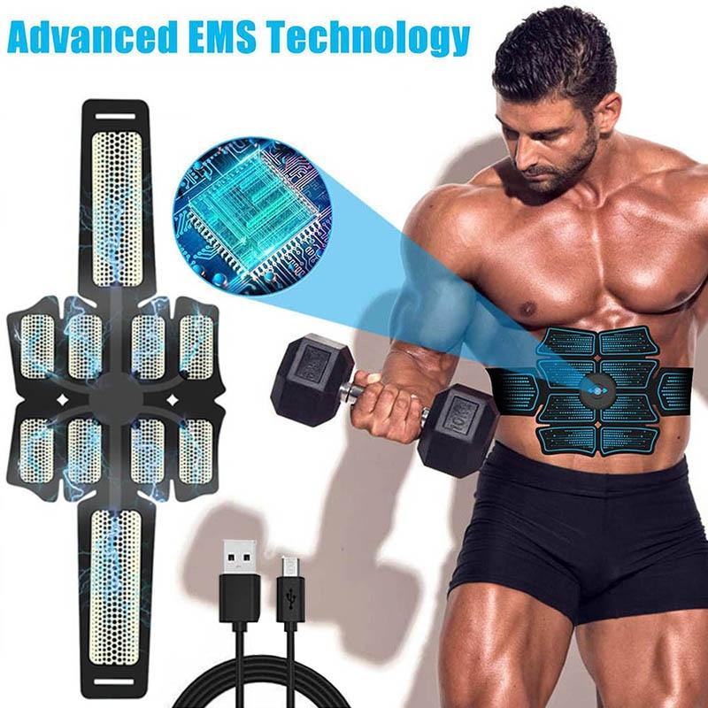 EMS Electronic Muscle Training Belt Abdominal Muscle Stimulator Toner Body Slimming Belt Home Gym Fitness Equipment Women Men