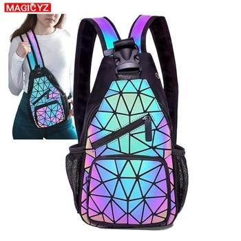 Female Chest Bags Women's Shoulder Messengers bag canvas Luminous Crossbody Bags for women Designer Pouch holographic Bag