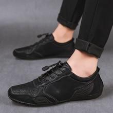 Genuine Leather Mens Casual Shoes men Fashion Walking Men Shoes