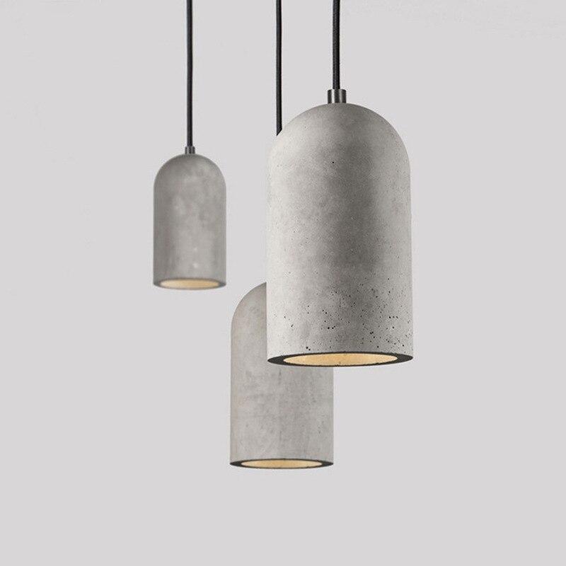 Vintage Cement Pendant Lamp Modern Led Pendant Lights Bar Loft Industrial Living Room Kitchen Hanging Light Fixtures Home Decor|Pendant Lights| |  - title=