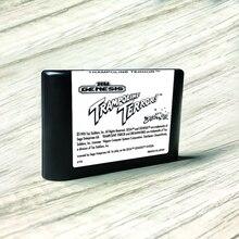 """טרמפולינה טרור ארה""""ב תווית Flashkit MD Electroless זהב PCB כרטיס עבור Sega Genesis Megadrive וידאו קונסולת משחקים"""