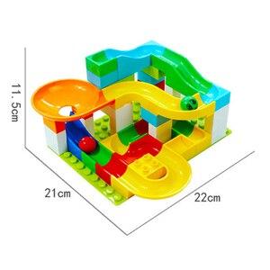 Image 5 - Marble Race Big Block Compatible Duploed Building Blocks Funnel Slide Blocks DIY Big Bricks Toys For Children Gift