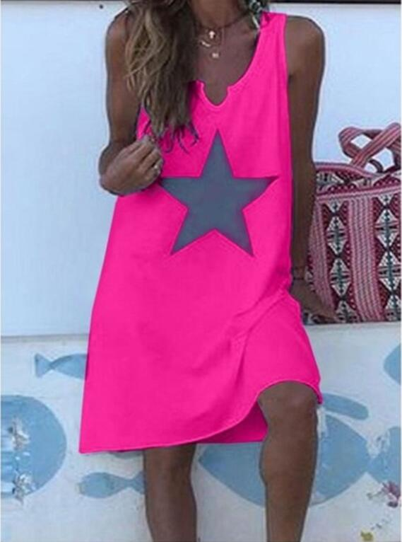 Women 2020 Loose Star Vintage Vest Ruffles Sexy Befree Blouse Shirt Large Big Summer Camis Party Beach Dresses Plus Sizes