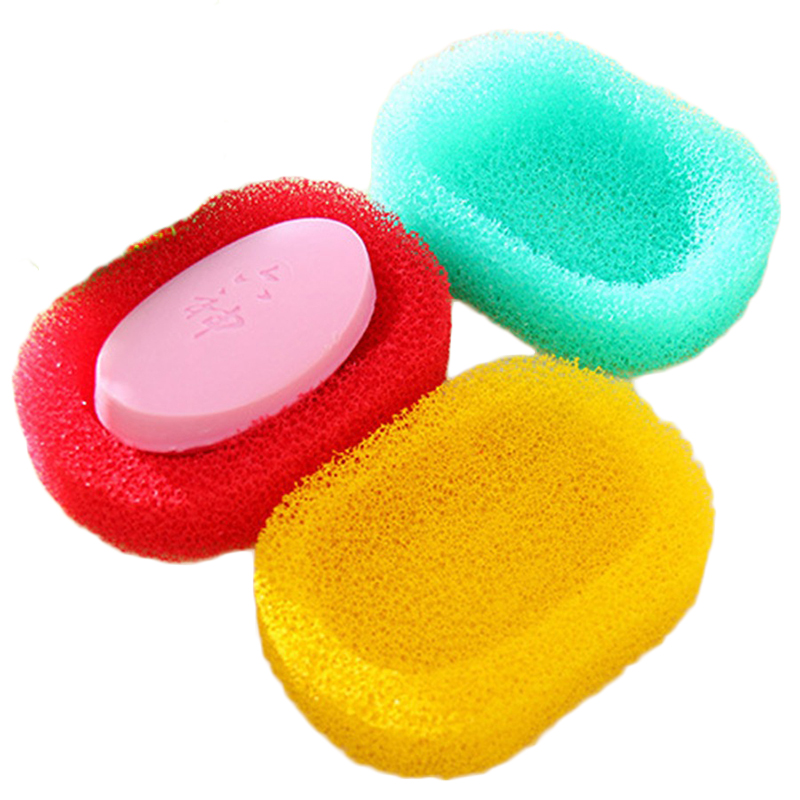 1PC Creative Soap Holder With Drain Bathroom Accessories Sink Sponge Drainage Soap Dish Box Case Mold For Soap Dropshipping