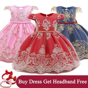 Toddler Girls Dress 1 Year Birthday Baby Girl Clothes Newborn Baby Girls Christening Gown Princess Dresses for Girls Size 0-2T