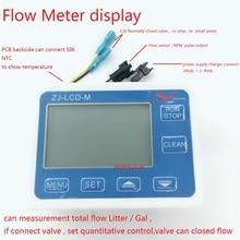 ควบคุม Flow Meter จอแสดงผล LCD ZJ LCD M สำหรับ flow flow