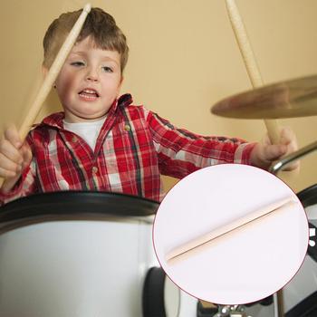 1 Pair Maple Wood Children's Drum Sticks Anti-slip Drumsticks Music Toy for Kids Jazz 5A Electronic Drum 1 pair 40cm wooden hot rods rute jazz drum sticks portable lightweight