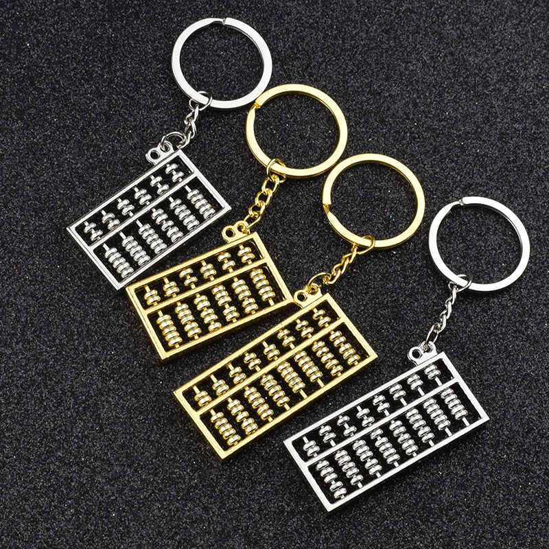 Unique Luxury Metal Keychain Car Key Chain Abacus Key Ring New Creative Design Color Pendant Chain For Best Gift Wholesale