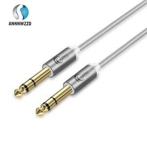6.5 millimetri Martinetti Audio del Cavo di Nylon Intrecciato 6.35 Martinetti Maschio a Maschio Audio Stereo Cavo per Chitarra Amplificatore Mixer Tastiera professionale(China)