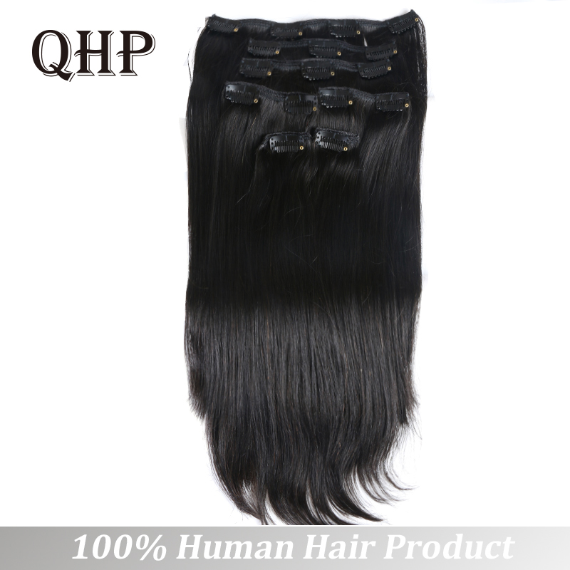 70g 100g Clip In Human Hair Extensions Brazilian Remy Straight Hair #1 #1B #4 #8 #613 #27 12inch-24inch 7PC/Set Full Head