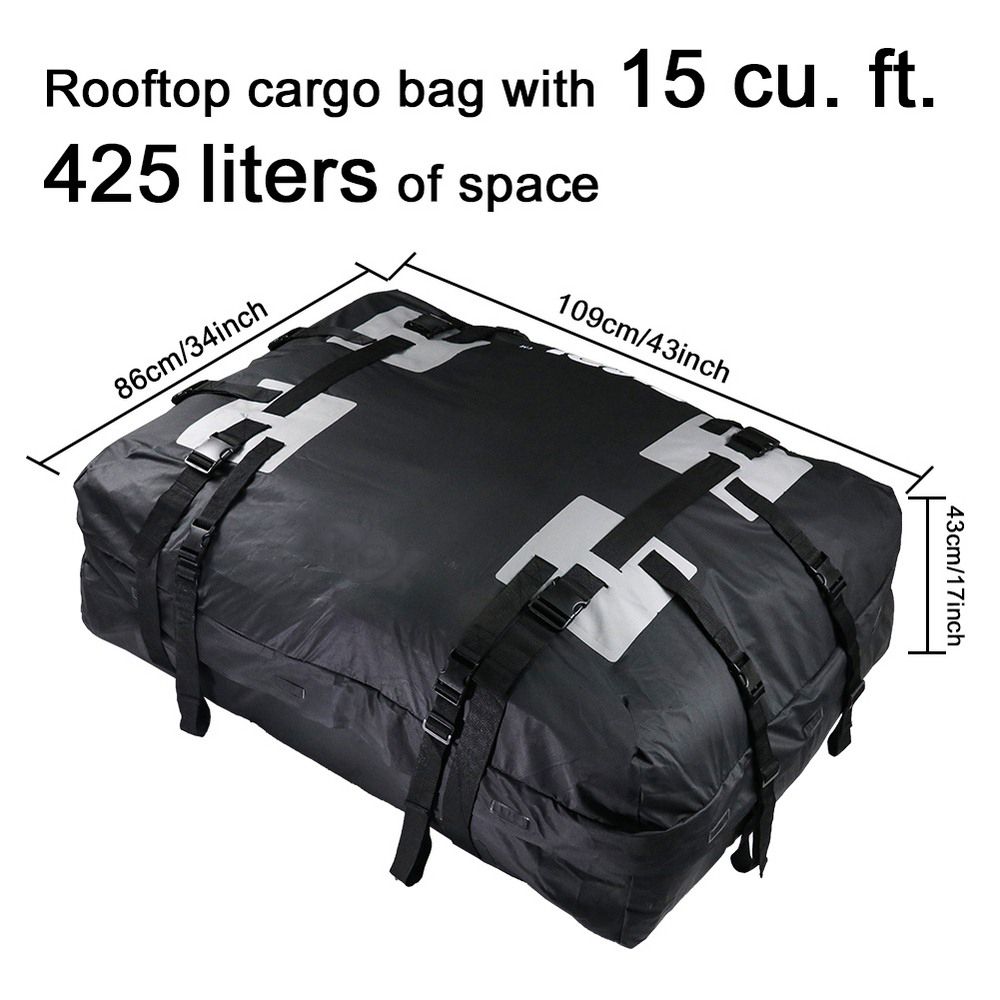 Waterproof Roof Top Carrier Cargo Luggage Travel Bag For Vehicles With Roof Rails Storage Bag Luggage Rack Luggage Travel Bag