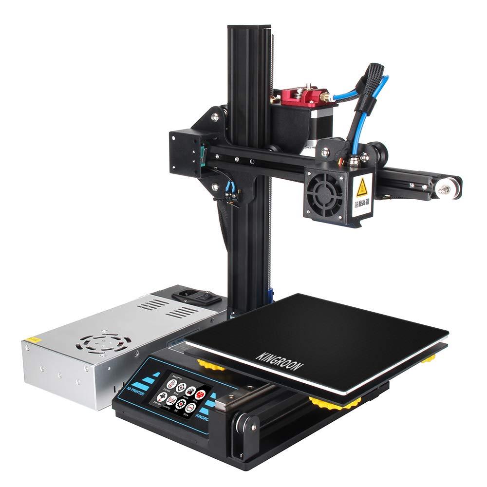 Kingroon 3D Printer Ultrabase Ranjang Hangat Membangun Permukaan Pelat Kaca 180*180*3.8 Mm Hot Bed Trailers Platform untuk KP3