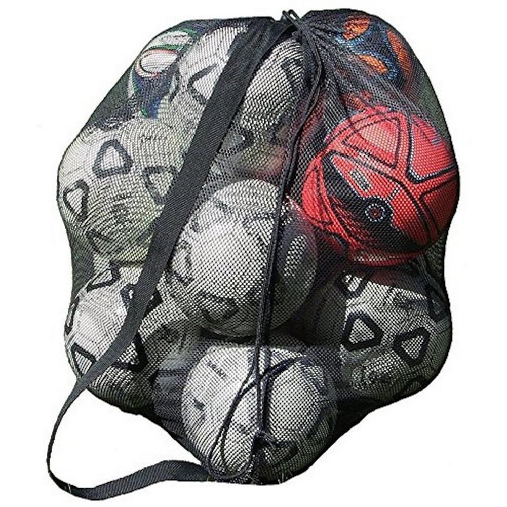 Basketball Sack Storage Bag Sports Mesh Drawstring Outdoor Extra Large Football Carrying Net Soccer Bag Ball