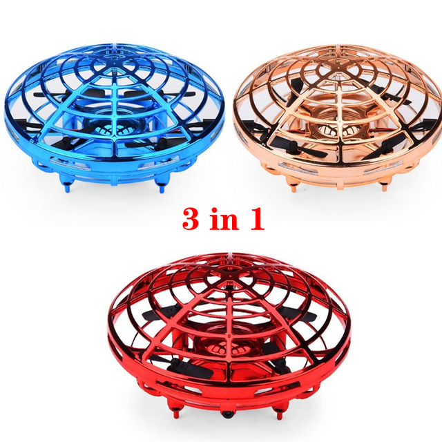 Mini Flying UFO RC drone Infraed Hand Sensing Helicopter Anti-collision Aircraft Flayball Induction Quadcopter dron Kids Toys