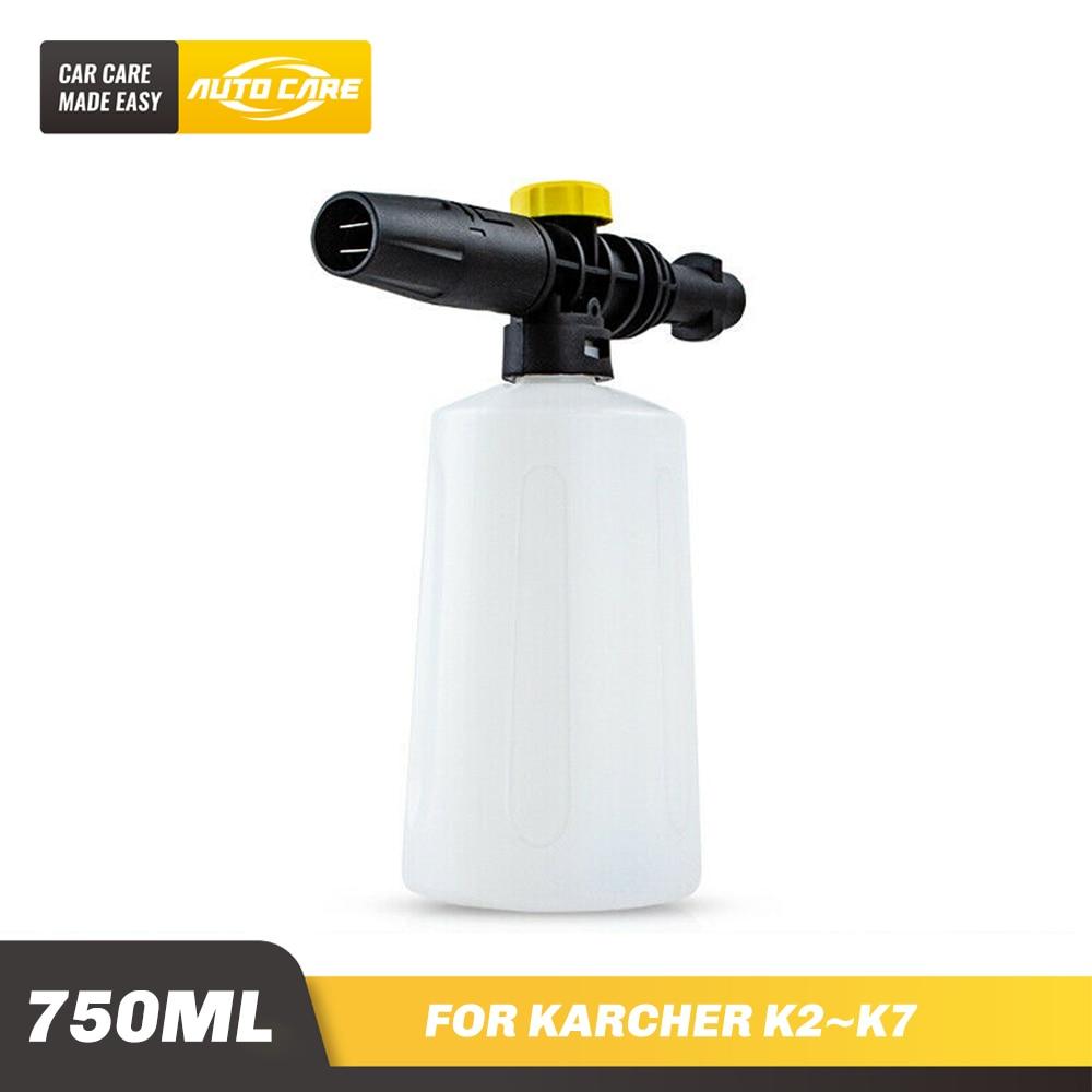750ml Schnee Foam Lance Für Karcher K2-K7 Hochdruck Schaum Pistole Kanone Kunststoff Tragbare Schäumer Düse Auto washer Seife Sprayer