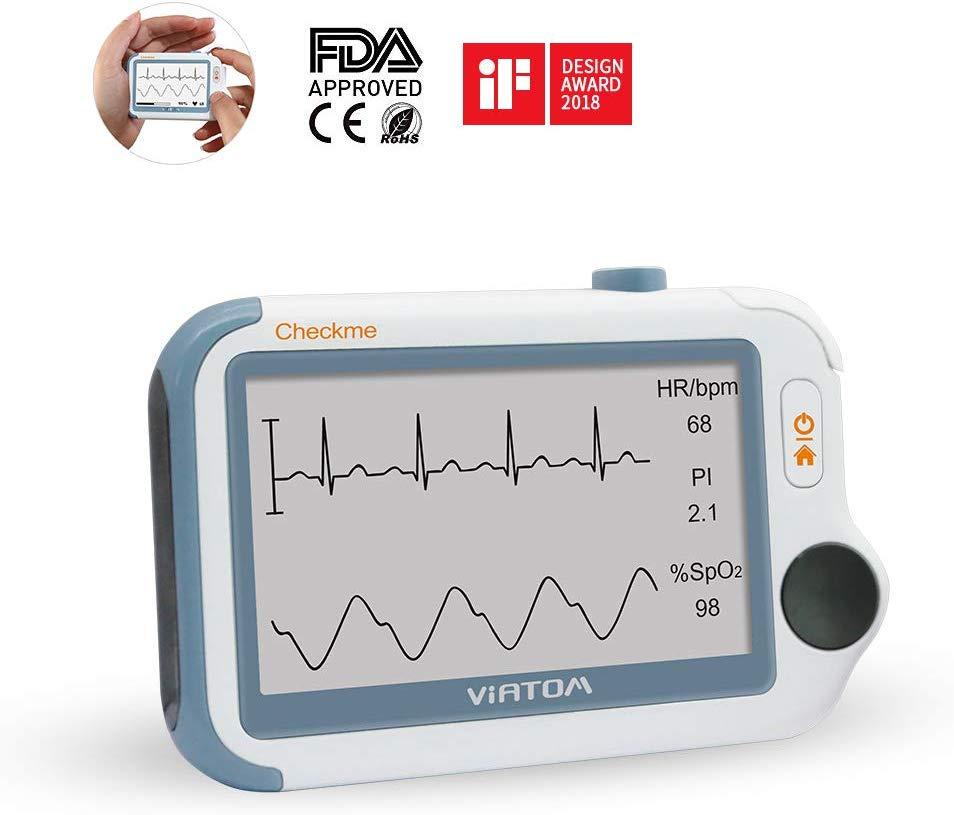 Vital Signs Monitor & APP PC Report, Portable ECG Tracker Blood Pressure Monitor Pulse Oximeter FDA Viatom Checkme Pro Doctor