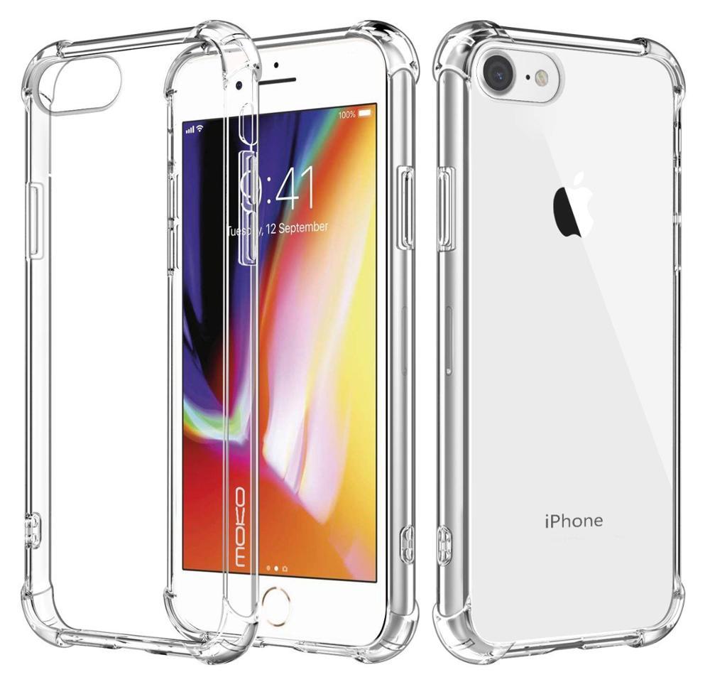 Прозрачный силиконовый чехол-бампер из ТПУ с защитой от царапин для iPhone 12, 11 Pro Max, чехол для iPhone 6, 6s, 7, 8 Plus, X, XS, XR Max, чехол