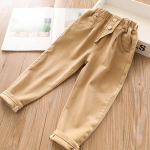 Image 2 - 2020 bahar bebek kız pamuk rahat pantolon toptan