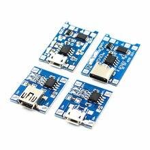 1 pces tipo-c/micro usb 5v 1a 18650 tp4056 bateria de lítio carregador módulo placa de carregamento com proteção funções duplas 1a li-ion