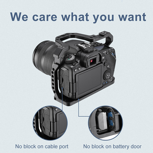 Image 5 - UURig DSLR Camera Cage for Canon EOS 70D 80D 90D Housing Case Cold Shoe 1/4 Arri Hole for Microphone LED Fill Light Extension