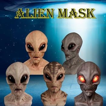 fortnites dekoration Halloween Alien Mask Scary Horrible Horror Alien mask Magic Mask Hat with ears moving шапка с ушками 1