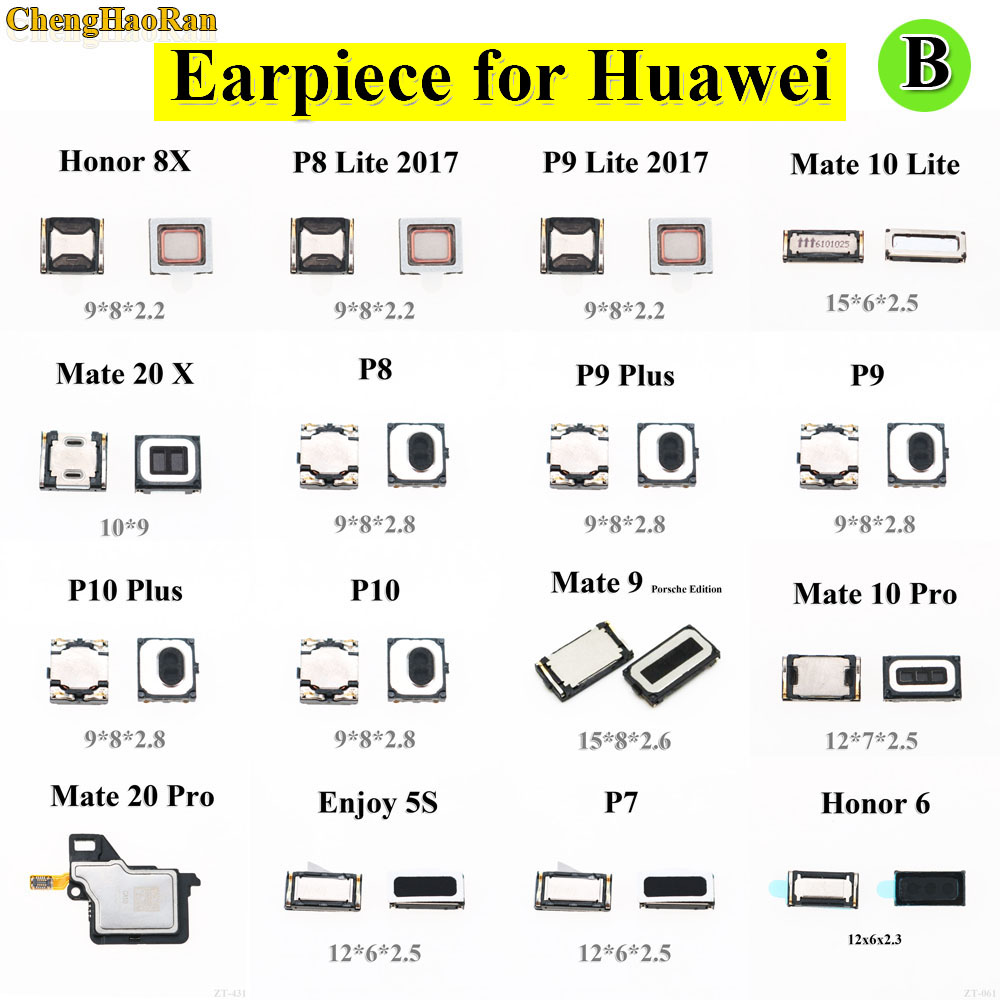 2pcs 100% New Top Front Earpiece Ear Speaker For Huawei Honor 8X P7 P8 P9 Lite 2017 Mate 9 10 Lite Pro 20 X P8 P9Plus P9 P10Plus