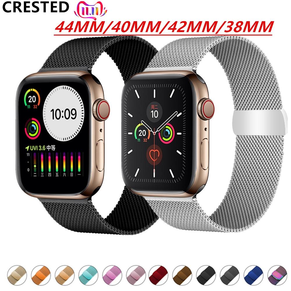 Milanese Loop Strap For Apple Watch Band Pulseira Apple Watch 5 4 3 Band 44mm/40mm Iwatch 5 42mm 38mm Correa Watchband Bracelet