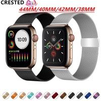 Хохлатый ремешок apple watch band Milanese Loop apple watch 4 3 band iwatch band 42 мм 38 мм correa 44 мм/40 мм pulseira bracelet